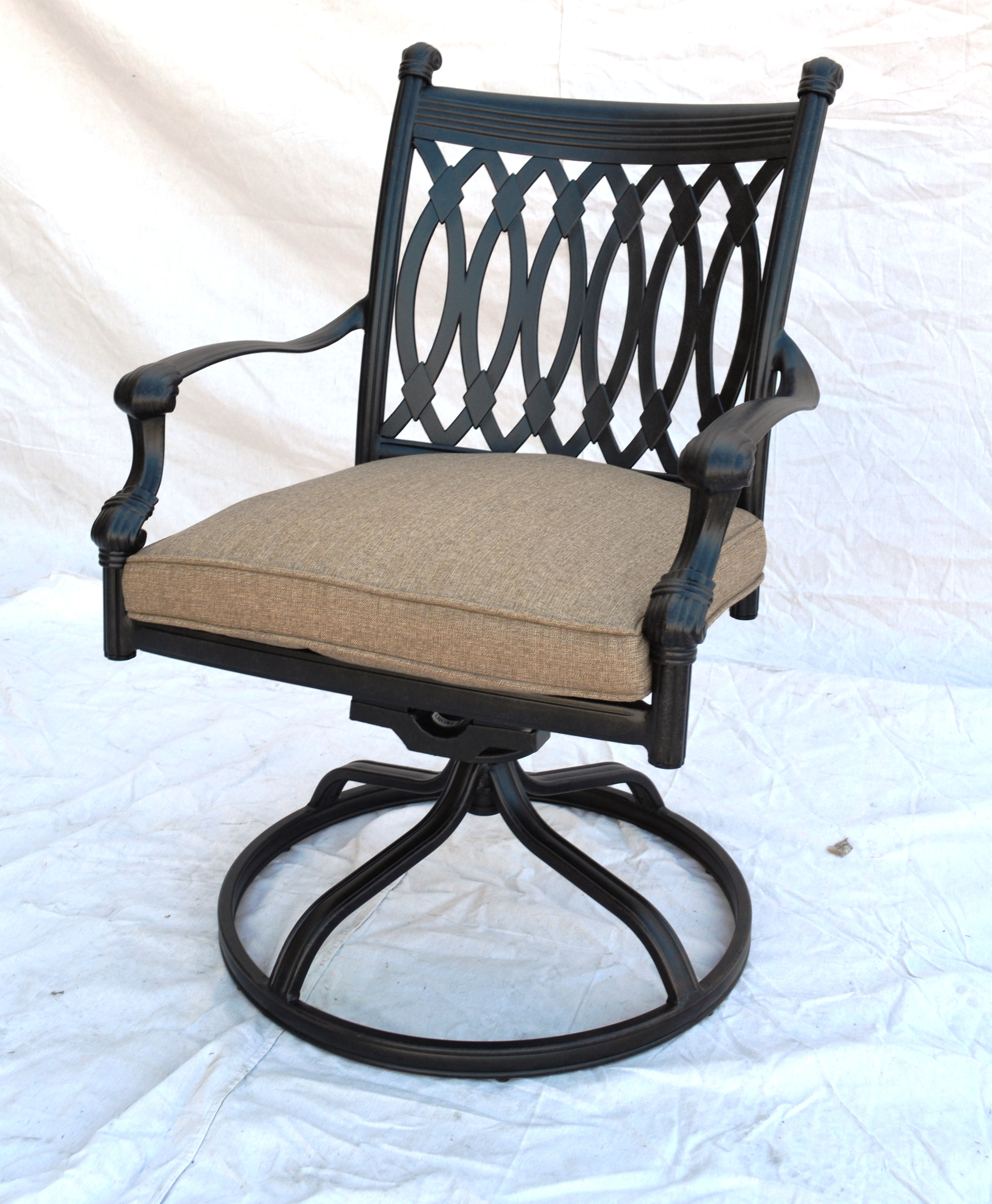 "Grand Tuscany Swivel Rocker Dining Chair Total Sizes: W25.5""xD32.5""xH36"""