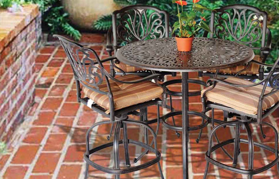 Elizabeth Bar Set -48-in Round Bar Table,Swivel Barstools