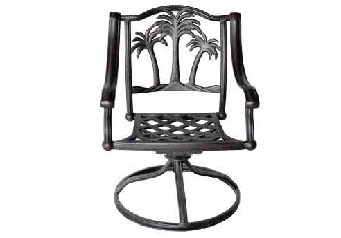 "LD9021-11-Palm Tree Swivel Dining Chair Total Sizes  W25""xD26""xH36 Seat Sizes W21xD19xH17 Arm H25""-Weight 33 Ibs"