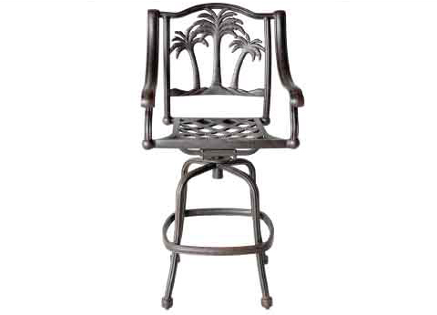 "LD9021-7 Palm Tree Barstool Total Sizes  W25""xD26""xH50"" Seat Sizes W21xD18xH30 Arm H38""- Weight 35Ibs"