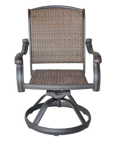 LD278-11-SANTA CLAIRA SWIVEL ROCKER DINING CHAIR, Total Sizes W25xD26xH36-Seat Sizes W21xD19xH17 Arm H25 in-Weight 23lbs